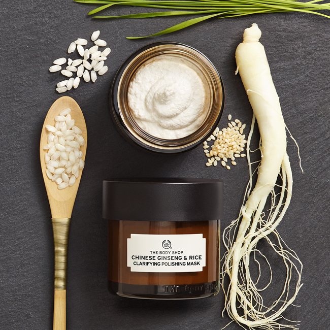 The body shop masque gommant au ginseng et riz chinois