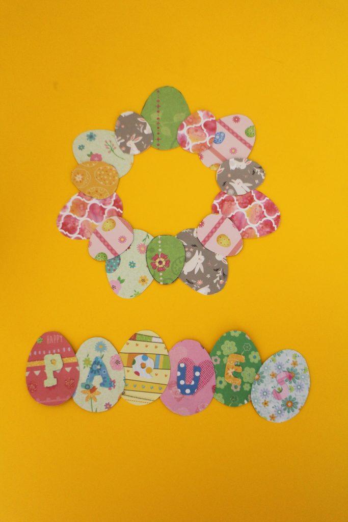 DIY Pâques - Couronne d'œufs de Pâques