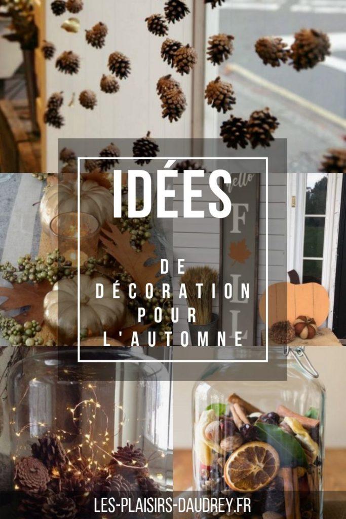 Idées de décoration d'automne